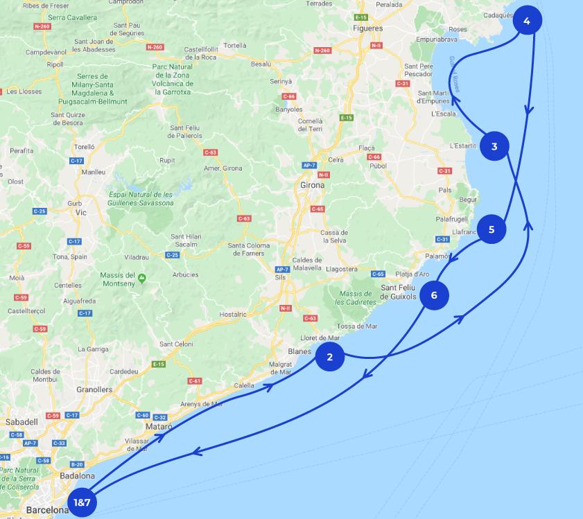 Map de navegación de Barcelona