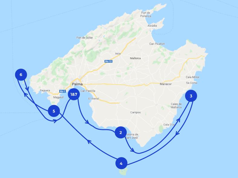 Mapa de Navegación en Mallorca