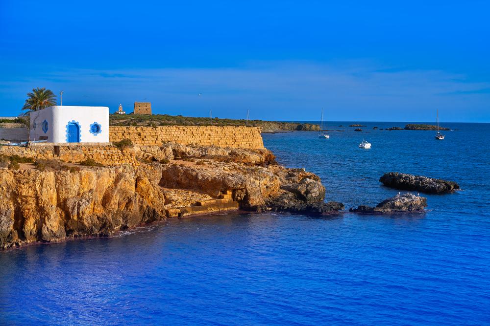 Isla de Tabarca en la Bahía de Alicante