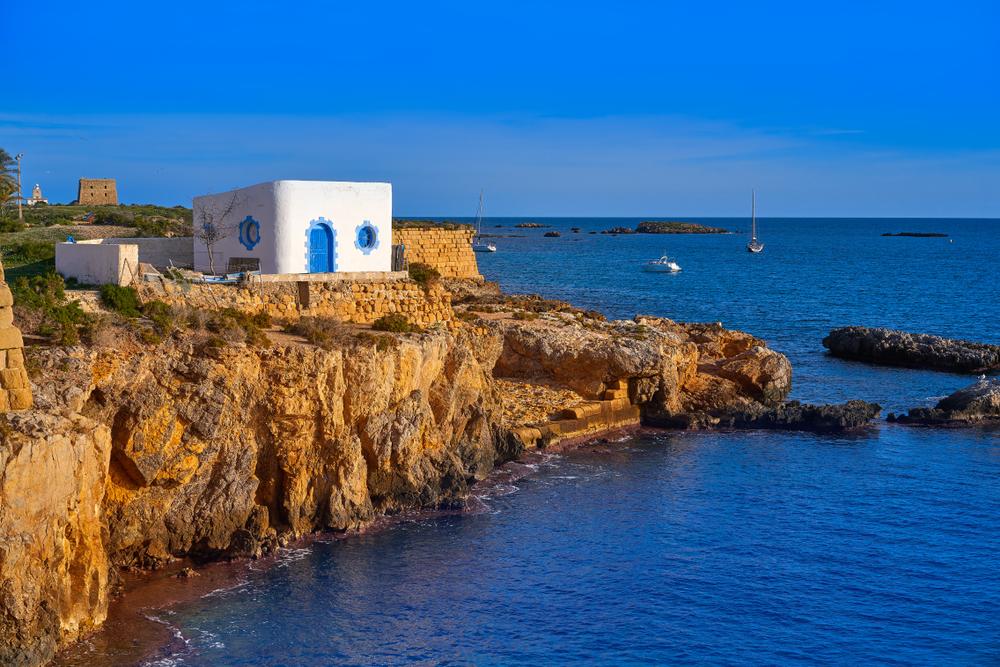 Atardecer en la Isla de Tabarca en Alicante