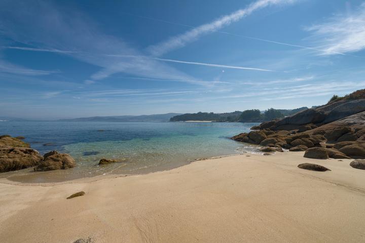 Pequeña playa en Rías Baixas, Galicia