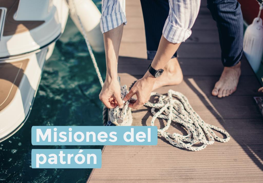Misiones del patrón a bordo de un barco