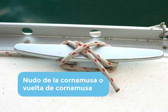 Nudo marinero de la Cornamusa o vuelta de Cornamusa